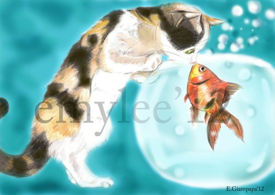 fish_and_cat_by_emylee-d52qqjq
